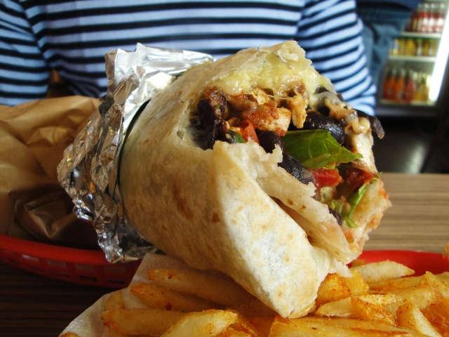 Trippy Taco tofu asada burrito - best carb fest EVER.