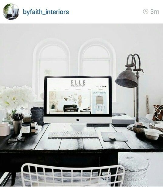 Home decor for the home pinterest home home decor - Black and white office decor ...