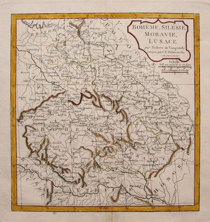 Bohemia, Austria, Hungary, Silesia and Moravia  map 1800