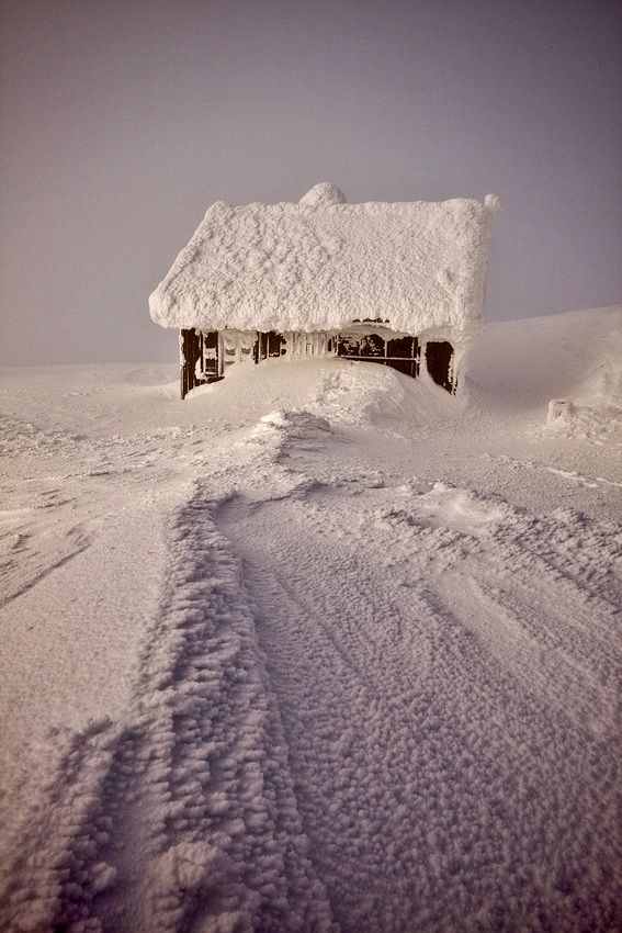 Sniezka is a mountain on the border between the Czech Republic and Poland