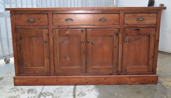 Sideboard Buffet Reclaimed Salvaged Solid Wood by VintageMillWerks