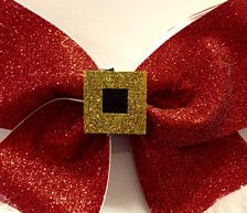 This is an adorable Santa Claus cheer bow that is a great stocking stuffer or a great way to celebrate Christmas! Every girl will be excited to receive this! A name can be added if you would like just email us and we will take care of it!    Will be on a ponytail. If you would like a clip please add it in the seller notes.