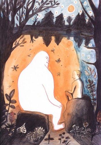 """Le petit homme et Dieu"" Kitty Crowther"