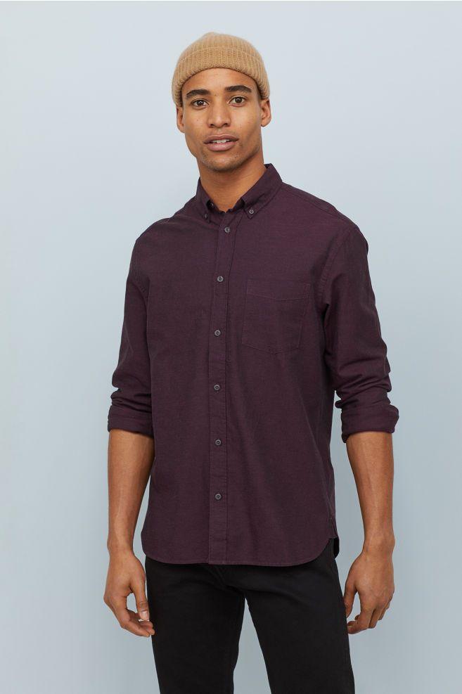 Oxford shirt Regular Fit - Dark purple - Men  23c8112f7d8
