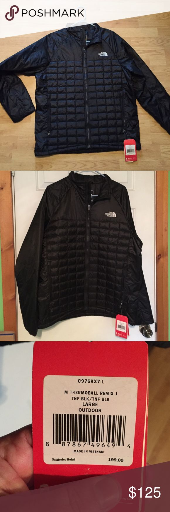 NWT Men's The North Face Thermoball Jacket Mens Large Active Fit Thermoball Jacket by The Northface. This Jacket features Thermoball technology which provides warmth without the bulk. It's also water resistant. The North Face Jackets & Coats
