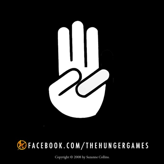 What does the three-finger salute mean in the Hunger Games?