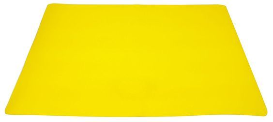 "Unique and Custom {15.74' x 22.32' Inch} Single Pack of Rectangle ""Non-Slip Grip Texture"" Extra Large Table Placemats Made of Flexible Silicone Rubber w/ Cool Bright Modern Simple Design [Yellow Color] * See this great image    Food Service Equipment Supplies"