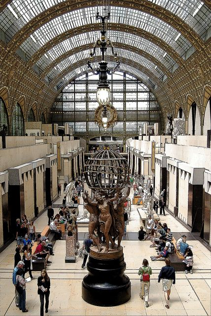 Orsay Museum ~ a museum for impressionist art ~ Paris, France.  Photo: Vainsaing via Flickr