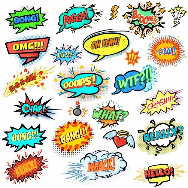 Download Colorful Comic Speech Bubbles Collection For Free