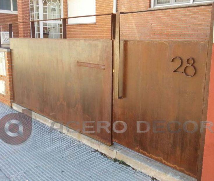 puertas peatonales acero decor te personaliza tu puerta con formas y colores somos diferentes solicita tu presupuesto acero corten fachadas