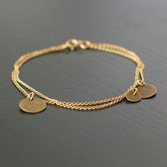 Bellissima bracelet on Etsy. You could wear this everyday, alone or layered with other bracelets.