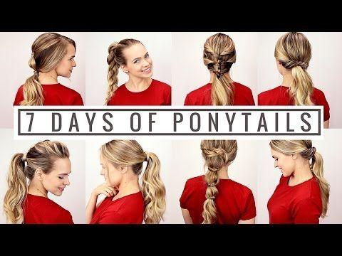 7 Days of Ponytails! - YouTube