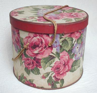 """Vintage Hat Box - Wow, I need some of these about 24"""" in diameter by at least 12"""" high! To think, everyone had them in the 1950s!"""