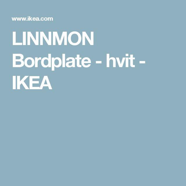 LINNMON Bordplate - hvit  - IKEA