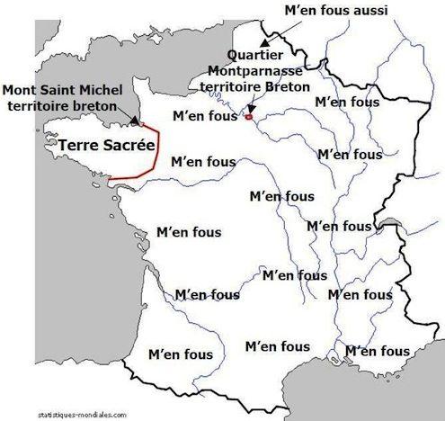 La France vue par les bretons #cartes #france #bretagne