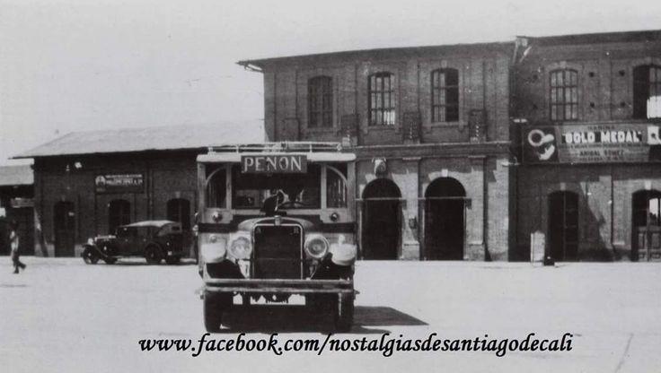 Estación del ferrocarril. Construida en 1917 y desaparecida en la explosión del 7 de agosto de 1956
