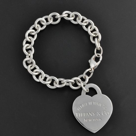 tiffany amp co quotreturn to tiffanyquot heart tag charm bracelet