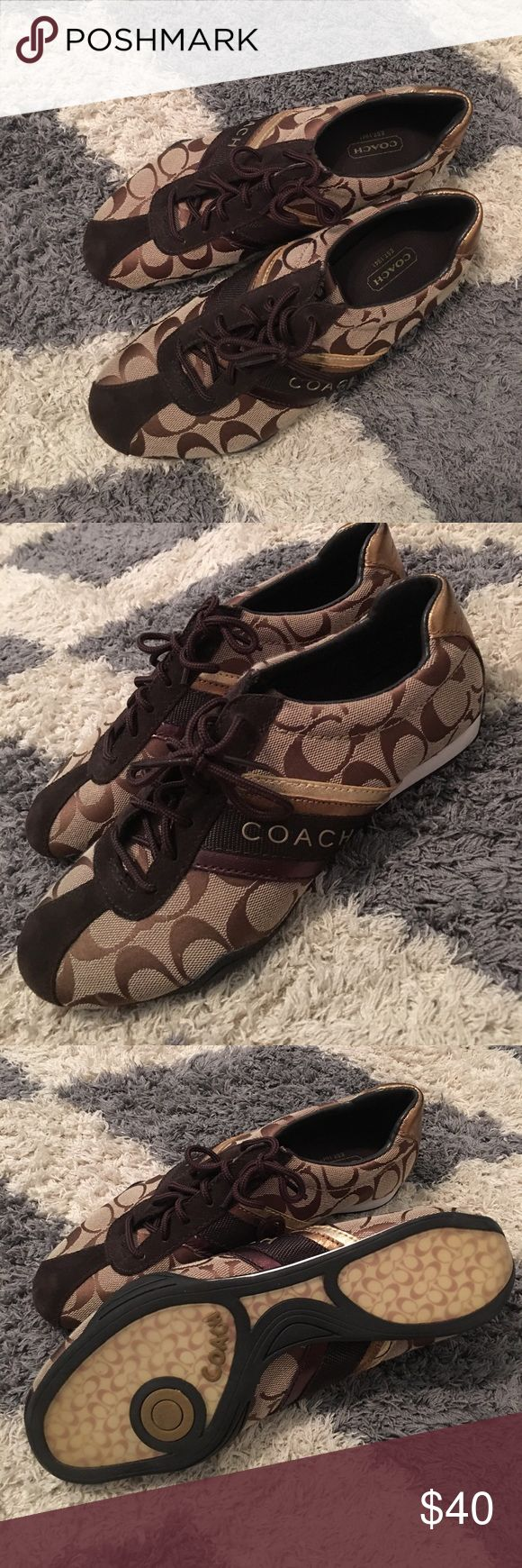 Coach tennis shoes Only worn once coach tennis shoes Coach Shoes Sneakers