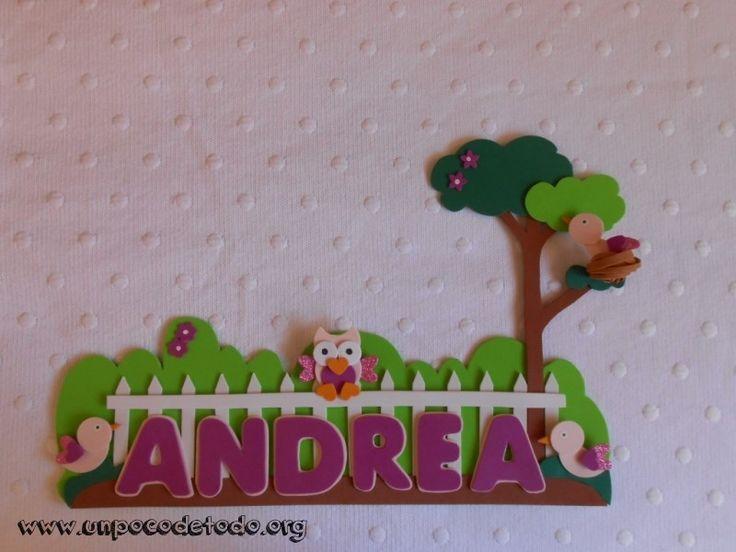 www.unpocodetodo.org - Cartel de pajaritos de Andrea  - Carteles - Goma eva