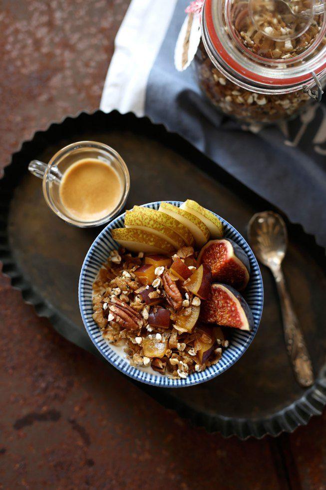 Rezept herbstliches Granola mit Pecanusskernen und Kakaonibs - Pieces of Mariposa