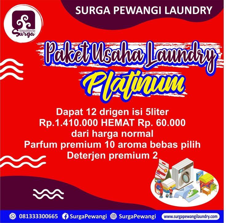 Surga Pewangi Laundry di 2020 Surga, Sabun cuci, Spanduk