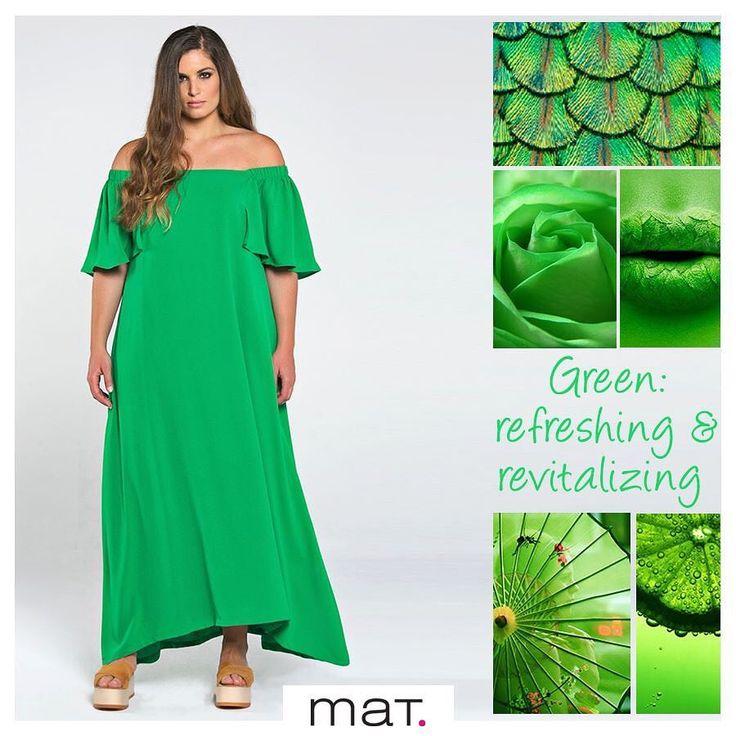 Το φωτεινό πράσινο, το νέο αγαπημένο χρώμα της μόδας, μας αναζωογονεί και μας ανεβάζει τη διάθεση μ' αυτό το μάξι #matfashion φόρεμα που κολακεύει κάθε σιλουέτα! 💚 Ανακάλυψε το ➲ code: 671.7402 #springsummer2017 #lovematfashion #realsize #collection #style #plussizefashion #curvyfashion #ootd #greendress #psblogger