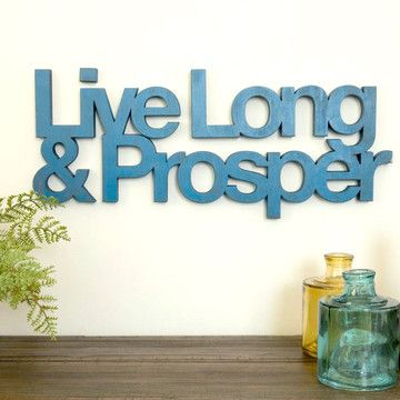 Live Long & Prosper Billy    So cute.  Love this! (yes, I am a nerd)  $74, now featured on Fab.