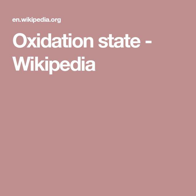 Oxidation state - Wikipedia