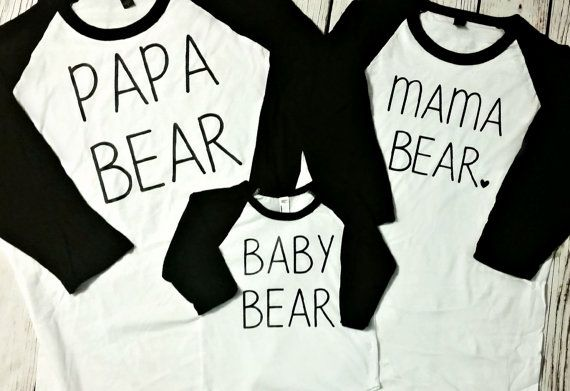 Hey, I found this really awesome Etsy listing at https://www.etsy.com/listing/254143212/mama-bear-papa-bear-baby-bear-raglan-set