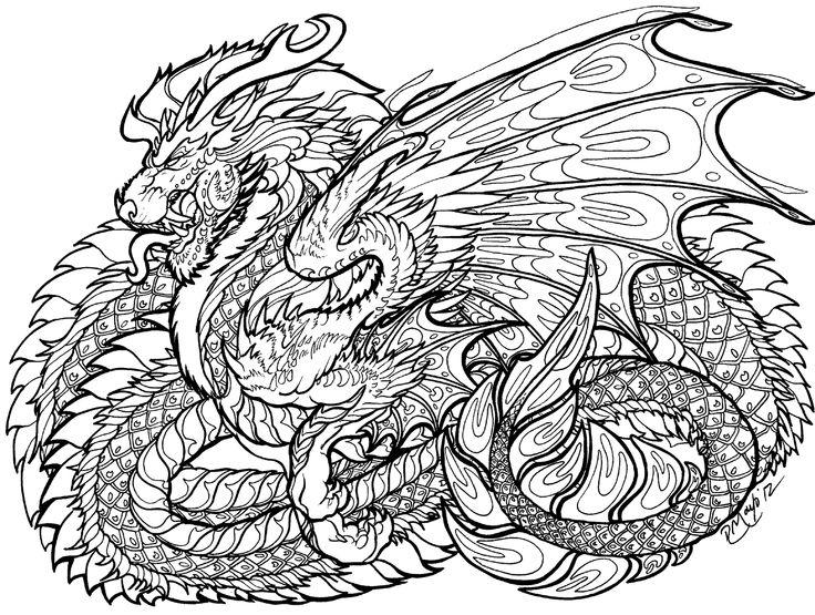 108 Besten Coloring Pages Dragons Bilder Auf Pinterest