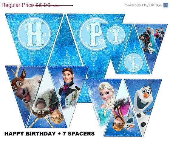 50 OFF SALE INSTANT Download Diy Printable Frozen Birthday Party