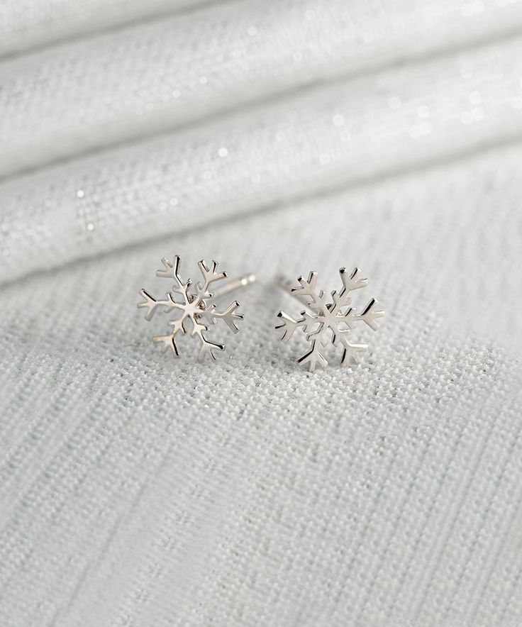 Take a look at this Lily Charmed Sterling Silver Snowflake Stud Earrings today!