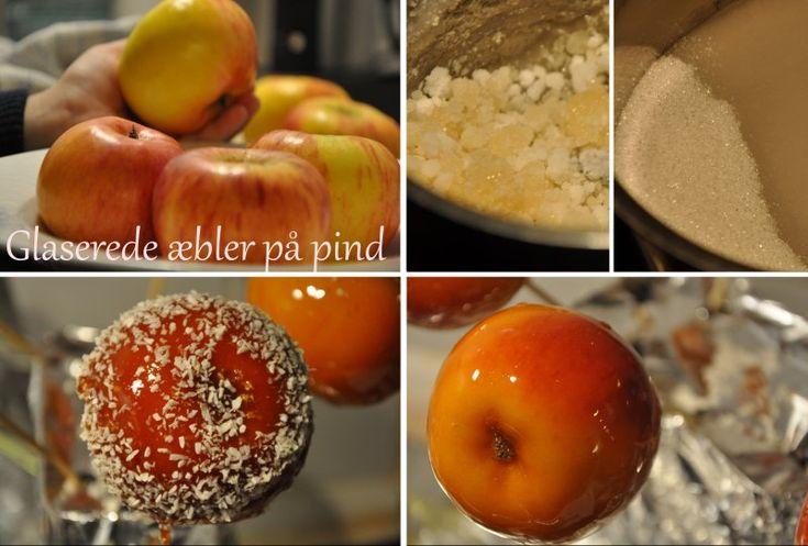 Glaserede æbler på pind, Danmark,Andet, Andet, Børn, opskrift