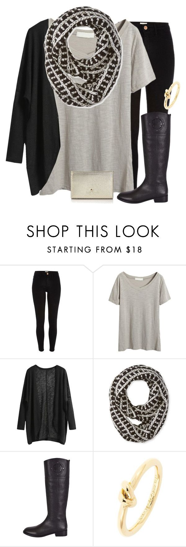 """""""Baby you're so classic"""" by madelynprice ❤ liked on Polyvore featuring River Island, Big Buddha, Tory Burch and Kate Spade"""