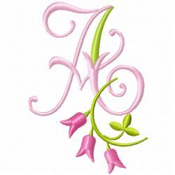 Free Embroidery Machine Design Monogram 77-A | Gosia Design
