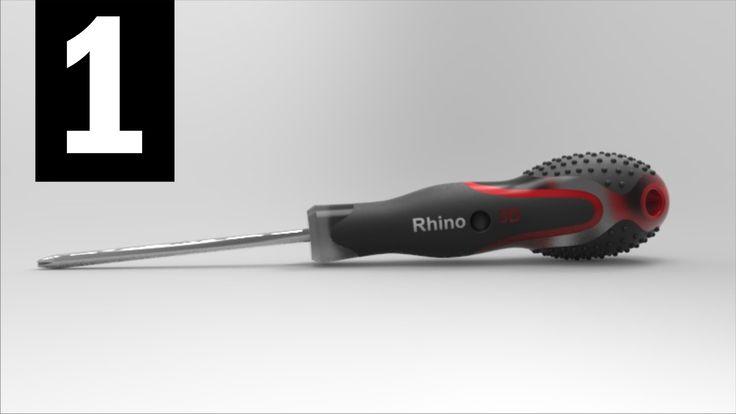 Tutorial Rhino 3D |  Rhino 5 Full | Modelar un Destornillador En Rhino 5...