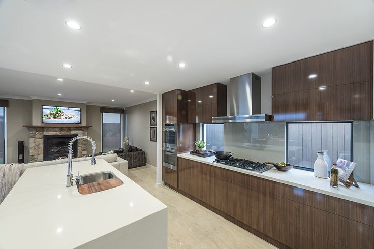 #Kitchen #design #ideas from Ausbuild's  Newbury display #home. www.ausbuild.com.au. This #Kitchen is bright and airy and makes fantastic use of all available space.