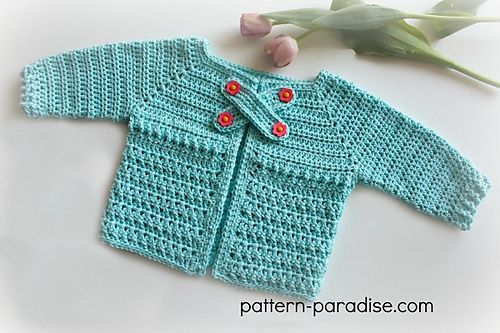 Stitch Baby Cardigan Sweater By Maria Bittner - Free Crochet Pattern ...