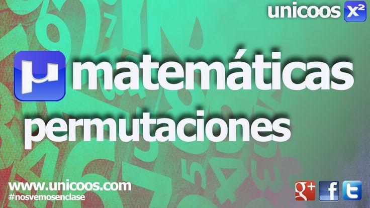 UD 10 EJERCICIO 1 Combinatoria 02 - Permutaciones sin repeticion 4ºESO  unicoos matematicas
