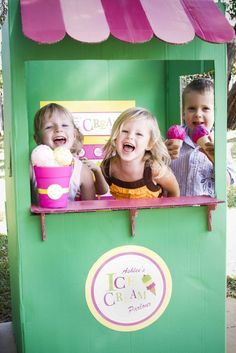 """Cute to create a little """"corner store/ice cream shop"""". I remember going all the time when we were camping. Can hold the candie apples, sodas, smores stuff....etc Pick up boxes from ??maybe the brick or other stores on United BVLD."""