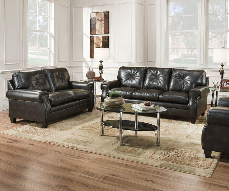 Slater 8065 Single Tufted Sofa U0026 Loveseat Set