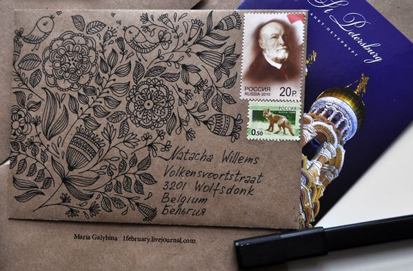 """""""mail art envelope"""" 