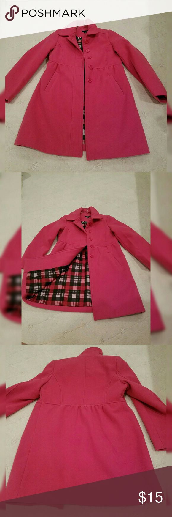 Girls Peacoat Worn once. Super cute girls pink Pea Coat. Perfect transition peice George Jackets & Coats Pea Coats