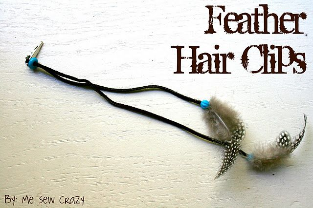 @Rachel Lovestrand This is for you! :) DIY Feather Hair Clips