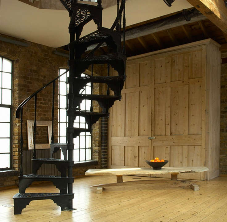 wrought iron spiral staircase / first option studio
