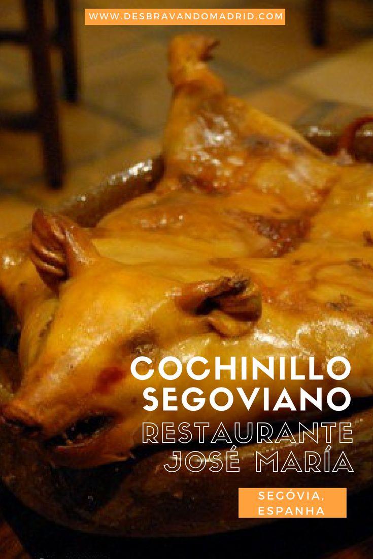 Onde comer o melhor #cochinillo de #Segóvia? Hoje falamos do restaurante José María, um dos melhores locais para comer #leitão em #Espanha