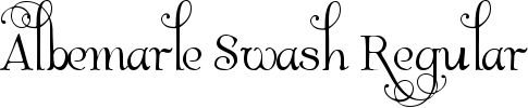 Download Albemarle Swash font. Find font samples, examples and test it free at AZfonts