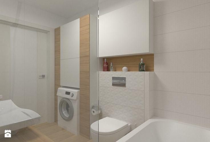 Łazienka - zabudowa meblowa nad pralką i wc Łazienka - zdjęcie od ML Projekt