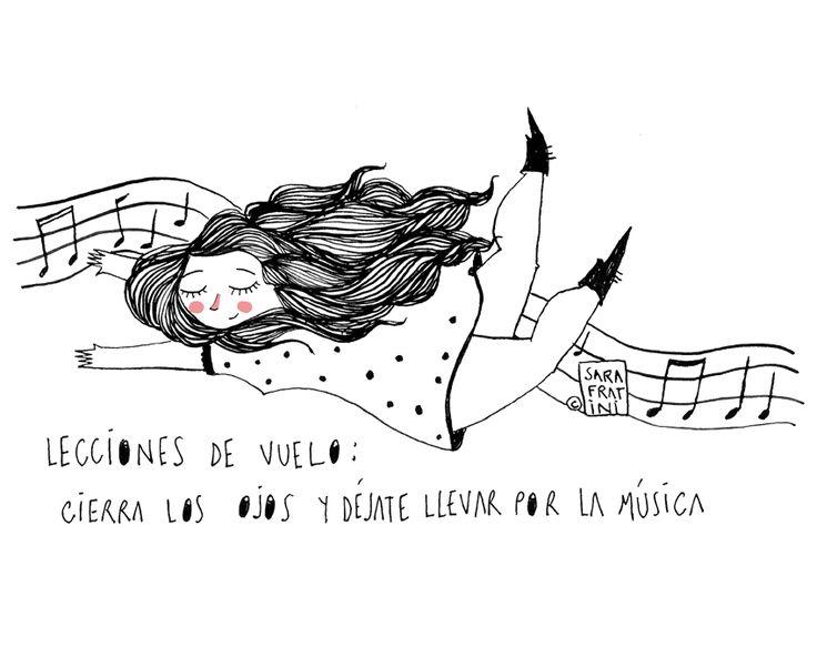 Lecciones de vuelo: Cierra los ojos y deja que la música te lleve. // Sara Fratini