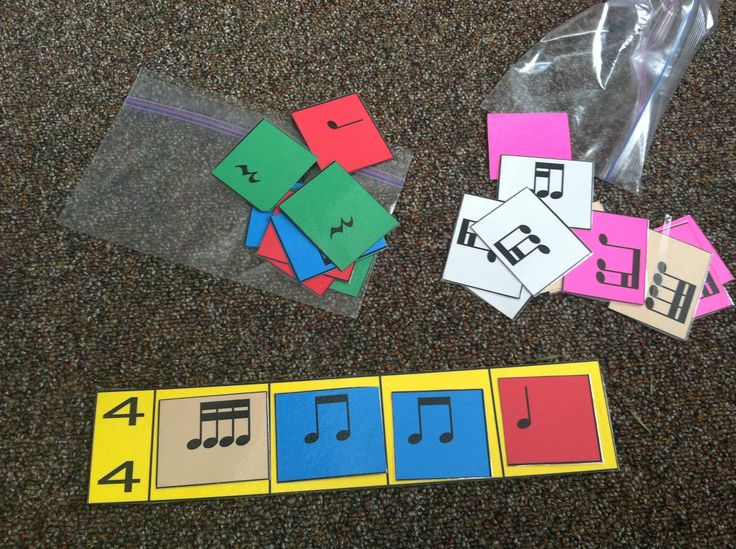 Measure cards. I use these in my classroom and it is a great way for the students to manipulate rhythms.